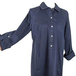 J. Jill Dresses - J Jill Live In Chino Navy Shirt Dress Size 10